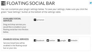 Floating Social Bar Configuratie • CAP5