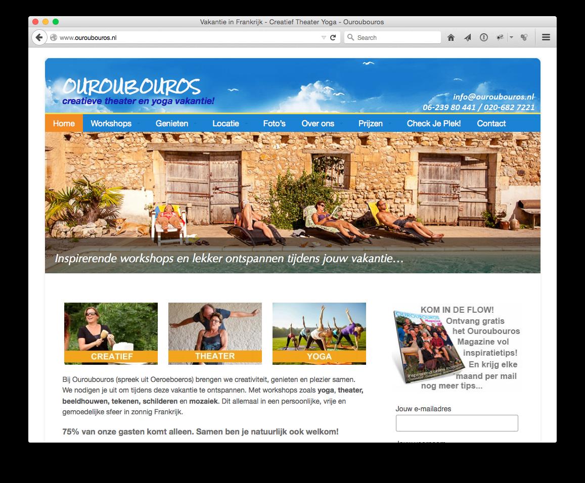 www.ouroubouros.nl kiest voor CAP5 BV als Internet Partner