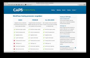 CAP5 Hosting producten vergelijken