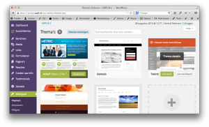 Wordpress Thema Update Pagina