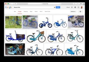 Google vind blauwe fiets