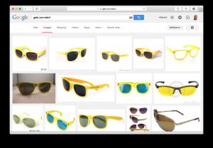 Google vind gele zonnebril