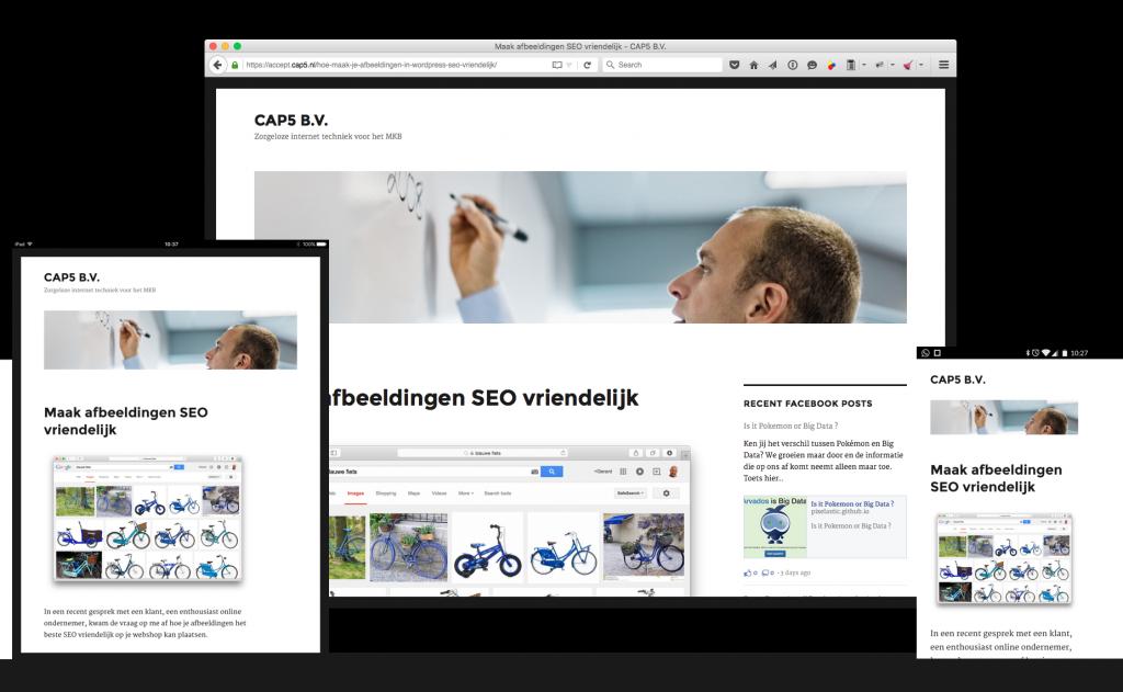 Devices collage WordPress Twentysixteen