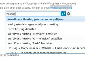 wordpress 4.5 - Super eenvoudig inline van tekst een link maken
