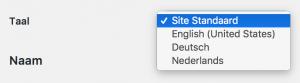 Wordpress 4.7 dashboard taal per gebruiker