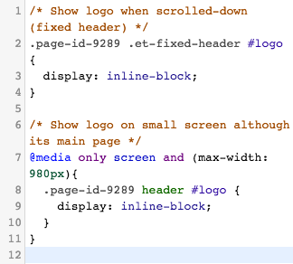 Code highlighting