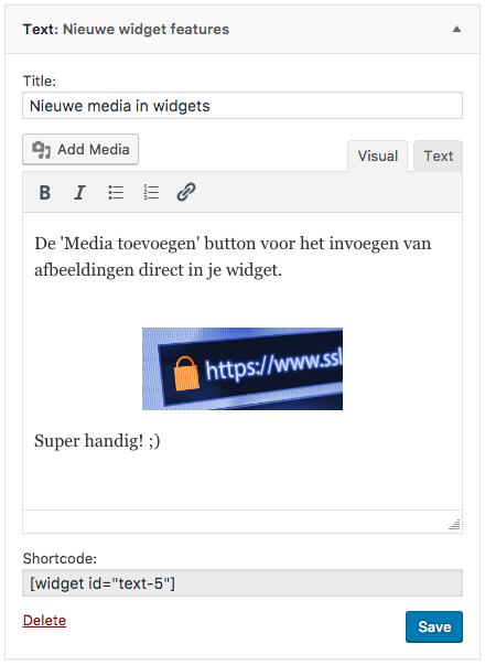 Wordpress widget - add media